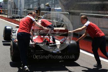 World © Octane Photographic Ltd. Formula 1 – Canadian GP. Scrutineering. Alfa Romeo Racing C38. Circuit de Gilles Villeneuve, Montreal, Canada. Thursday 6th June 2019.
