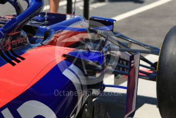 World © Octane Photographic Ltd. Formula 1 – Canadian GP. Scrutineering. Scuderia Toro Rosso STR14t. Circuit de Gilles Villeneuve, Montreal, Canada. Thursday 6th June 2019.