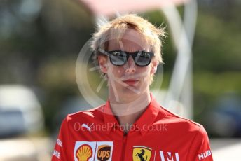 World © Octane Photographic Ltd. Formula 1 - Canadian GP. Paddock. Brendon Hartley – Scuderia Ferrari test and simulator driver. Circuit de Gilles Villeneuve, Montreal, Canada. Saturday 8th June 2019.