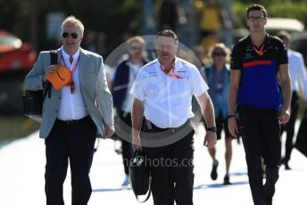 World © Octane Photographic Ltd. Formula 1 - Canadian GP. Paddock. Zak Brown - Executive Director of McLaren Technology Group.  Circuit de Gilles Villeneuve, Montreal, Canada. Sunday 9th June 2019.