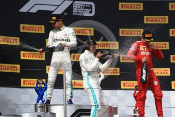 World © Octane Photographic Ltd. Formula 1 – French GP. Podium. Mercedes AMG Petronas Motorsport AMG F1 W10 EQ Power+ - Lewis Hamilton, Valtteri Bottas and Scuderia Ferrari SF90 – Charles Leclerc. Paul Ricard Circuit, La Castellet, France. Sunday 23rd June 2019.