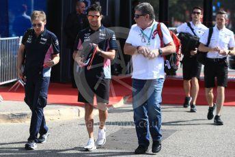 World © Octane Photographic Ltd. Formula 1 – French GP. Paddock. SportPesa Racing Point RP19 - Sergio Perez. Paul Ricard Circuit, La Castellet, France. Sunday 23rd June 2019.