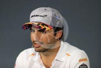 World © Octane Photographic Ltd. Formula 1 – French GP. FIA Drivers Press Conference. McLaren – Carlos Sainz. Paul Ricard Circuit, La Castellet, France. Thursday 20th June 2019.