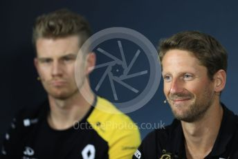 World © Octane Photographic Ltd. Formula 1 – French GP. FIA Drivers Press Conference. Rich Energy Haas F1 Team – Romain Grosjean. Paul Ricard Circuit, La Castellet, France. Thursday 20th June 2019.