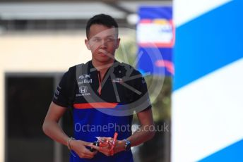 World © Octane Photographic Ltd. Formula 1 – French GP. Paddock. Scuderia Toro Rosso STR14 – Alexander Albon. Paul Ricard Circuit, La Castellet, France. Thursday 20th June 2019.