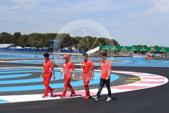 World © Octane Photographic Ltd. Formula 1 – French GP.  Track Walk. Scuderia Ferrari SF90 – Charles Leclerc. Paul Ricard Circuit, La Castellet, France. Thursday 20th June 2019.