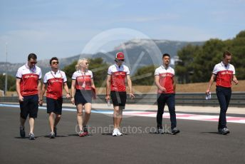 World © Octane Photographic Ltd. Formula 1 – French GP. Track Walk. Alfa Romeo Racing C38 – Antonio Giovinazzi. Paul Ricard Circuit, La Castellet, France. Thursday 20th June 2019.