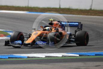 World © Octane Photographic Ltd. Formula 1 – German GP - Qualifying. McLaren MCL34 – Lando Norris. Hockenheimring, Hockenheim, Germany. Saturday 27th July 2019.