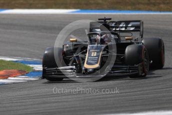 World © Octane Photographic Ltd. Formula 1 – German GP - Qualifying. Rich Energy Haas F1 Team VF19 – Romain Grosjean. Hockenheimring, Hockenheim, Germany. Saturday 27th July 2019.