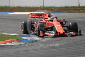World © Octane Photographic Ltd. Formula 1 – German GP - Qualifying. Scuderia Ferrari SF90 – Sebastian Vettel. Hockenheimring, Hockenheim, Germany. Saturday 27th July 2019.