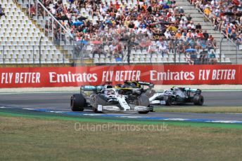 World © Octane Photographic Ltd. Formula 1 – German GP - Qualifying. Mercedes AMG Petronas Motorsport AMG F1 W10 EQ Power+ - Lewis Hamilton and Valtteri Bottas with Renault Sport F1 Team RS19 – Daniel Ricciardo. Hockenheimring, Hockenheim, Germany. Saturday 27th July 2019.