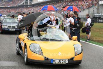 World © Octane Photographic Ltd. Formula 1 – German GP - Drivers Parade. Renault Sport F1 Team RS19 – Nico Hulkenberg. Hockenheimring, Hockenheim, Germany. Sunday 28th July 2019.