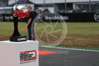 World © Octane Photographic Ltd. Formula 1 – German GP - Grid. Winner's trophy. Hockenheimring, Hockenheim, Germany. Sunday 28th July 2019.