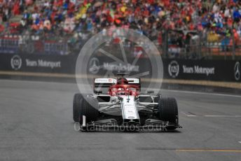 World © Octane Photographic Ltd. Formula 1 – German GP - Grid. Alfa Romeo Racing C38 – Kimi Raikkonen. Hockenheimring, Hockenheim, Germany. Sunday 28th July 2019.