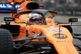 World © Octane Photographic Ltd. Formula 1 – German GP - Grid. McLaren MCL34 – Carlos Sainz. Hockenheimring, Hockenheim, Germany. Sunday 28th July 2019.