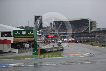World © Octane Photographic Ltd. Formula 1 – German GP - Grid. The gris form up in the wet. Hockenheimring, Hockenheim, Germany. Sunday 28th July 2019.