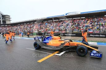 World © Octane Photographic Ltd. Formula 1 – German GP - Grid. McLaren MCL34 – Lando Norris. Hockenheimring, Hockenheim, Germany. Sunday 28th July 2019.