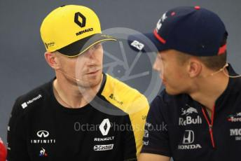 World © Octane Photographic Ltd. Formula 1 – German GP. FIA Drivers Press Conference. Scuderia Toro Rosso – Alexander Albon and Renault Sport F1 Team – Nico Hulkenberg. Hockenheimring, Hockenheim, Germany. Thursday 25th July 2019.