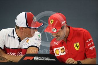 World © Octane Photographic Ltd. Formula 1 – German GP. FIA Drivers Press Conference. Scuderia Ferrari SF90 – Sebastian Vettel and Alfa Romeo Racing – Kimi Raikkonen. Hockenheimring, Hockenheim, Germany. Thursday 25th July 2019.