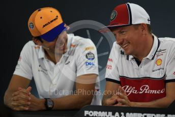 World © Octane Photographic Ltd. Formula 1 – German GP. FIA Drivers Press Conference. McLaren – Carlos Sainz and Alfa Romeo Racing – Kimi Raikkonen. Hockenheimring, Hockenheim, Germany. Thursday 25th July 2019.