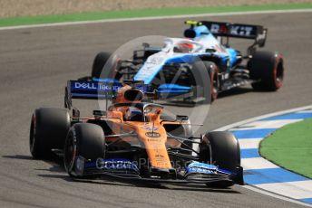 World © Octane Photographic Ltd. Formula 1 – German GP - Practice 1. ROKiT Williams Racing FW42 – Robert Kubica and McLaren MCL34 – Carlos Sainz. Hockenheimring, Hockenheim, Germany. Friday 26th July 2019.