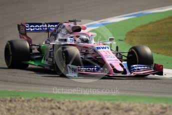 World © Octane Photographic Ltd. Formula 1 – German GP - Practice 1. SportPesa Racing Point RP19 - Sergio Perez. Hockenheimring, Hockenheim, Germany. Friday 26th July 2019.