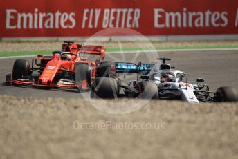 World © Octane Photographic Ltd. Formula 1 – German GP - Practice 1. Mercedes AMG Petronas Motorsport AMG F1 W10 EQ Power+ - Lewis Hamilton and Scuderia Ferrari SF90 – Sebastian Vettel. Hockenheimring, Hockenheim, Germany. Friday 26th July 2019.