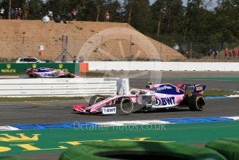 World © Octane Photographic Ltd. Formula 1 – German GP - Practice 1. SportPesa Racing Point RP19 – Lance Stroll and Sergio Perez. Hockenheimring, Hockenheim, Germany. Friday 26th July 2019.
