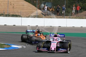 World © Octane Photographic Ltd. Formula 1 – German GP - Practice 1. SportPesa Racing Point RP19 – Lance Stroll and McLaren MCL34 – Carlos Sainz. Hockenheimring, Hockenheim, Germany. Friday 26th July 2019.