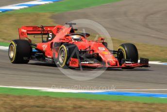 World © Octane Photographic Ltd. Formula 1 – German GP - Practice 2. Scuderia Ferrari SF90 – Sebastian Vettel. Hockenheimring, Hockenheim, Germany. Friday 26th July 2019.