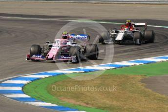 World © Octane Photographic Ltd. Formula 1 – German GP - Practice 2. SportPesa Racing Point RP19 – Lance Stroll and Alfa Romeo Racing C38 – Antonio Giovinazzi. Hockenheimring, Hockenheim, Germany. Friday 26th July 2019.