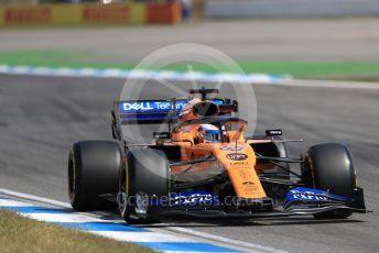 World © Octane Photographic Ltd. Formula 1 – German GP - Practice 2. McLaren MCL34 – Carlos Sainz. Hockenheimring, Hockenheim, Germany. Friday 26th July 2019.