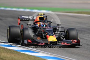 World © Octane Photographic Ltd. Formula 1 – German GP - Practice 2. Aston Martin Red Bull Racing RB15 – Pierre Gasly. Hockenheimring, Hockenheim, Germany. Friday 26th July 2019.