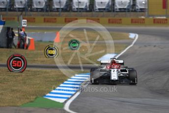 World © Octane Photographic Ltd. Formula 1 – German GP - Practice 2. Alfa Romeo Racing C38 – Kimi Raikkonen. Hockenheimring, Hockenheim, Germany. Friday 26th July 2019.