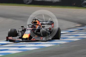 World © Octane Photographic Ltd. Formula 1 – German GP - Practice 3. Aston Martin Red Bull Racing RB15 – Max Verstappen. Hockenheimring, Hockenheim, Germany. Saturday 27th July 2019.