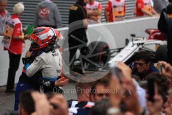 World © Octane Photographic Ltd. Formula 1 – German GP - Parc Ferme. ROKiT Williams Racing FW42 – Robert Kubica and Scuderia Toro Rosso STR14 – Daniil Kvyat. Hockenheimring, Hockenheim, Germany. Sunday 28th July 2019.