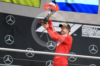 World © Octane Photographic Ltd. Formula 1 – German GP - Podium. Scuderia Ferrari SF90 – Sebastian Vettel. Hockenheimring, Hockenheim, Germany. Sunday 28th July 2019.