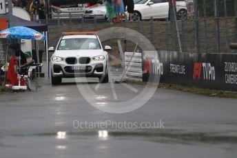World © Octane Photographic Ltd. Formula 1 – German GP - Race. Marshal post car in the wet. Hockenheimring, Hockenheim, Germany. Sunday 28th July 2019.