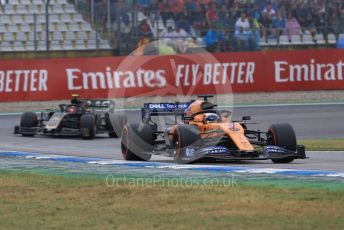 World © Octane Photographic Ltd. Formula 1 – German GP - Race. McLaren MCL34 – Carlos Sainz. Hockenheimring, Hockenheim, Germany. Sunday 28th July 2019.