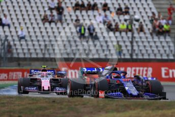 World © Octane Photographic Ltd. Formula 1 – German GP - Race. Scuderia Toro Rosso STR14 – Alexander Albon and SportPesa Racing Point RP19 – Lance Stroll. Hockenheimring, Hockenheim, Germany. Sunday 28th July 2019.