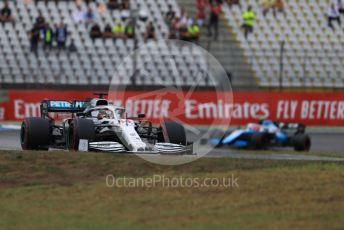 World © Octane Photographic Ltd. Formula 1 – German GP - Race. Mercedes AMG Petronas Motorsport AMG F1 W10 EQ Power+ - Lewis Hamilton and ROKiT Williams Racing FW42 – Robert Kubica. Hockenheimring, Hockenheim, Germany. Sunday 28th July 2019.