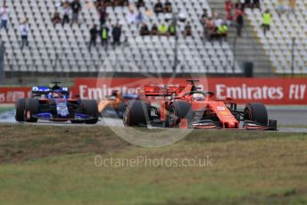 World © Octane Photographic Ltd. Formula 1 – German GP - Race. Scuderia Ferrari SF90 – Sebastian Vettel, Scuderia Toro Rosso STR14 – Daniil Kvyat and McLaren MCL34 – Carlos Sainz. Hockenheimring, Hockenheim, Germany. Sunday 28th July 2019.