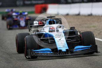 World © Octane Photographic Ltd. Formula 1 – German GP - Race. ROKiT Williams Racing FW 42 – George Russell followed by Scuderia Toro Rosso STR14 – Alexander Albon and Daniil Kvya. Hockenheimring, Hockenheim, Germany. Sunday 28th July 2019.