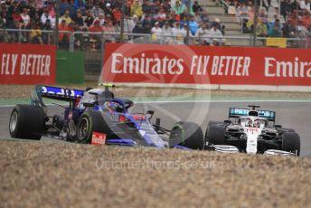 World © Octane Photographic Ltd. Formula 1 – German GP - Race. Scuderia Toro Rosso STR14 – Alexander Albon and Mercedes AMG Petronas Motorsport AMG F1 W10 EQ Power+ - Lewis Hamilton. Hockenheimring, Hockenheim, Germany. Sunday 28th July 2019.