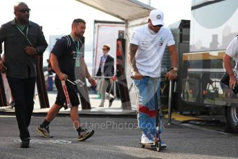 World © Octane Photographic Ltd. Formula 1 – German GP - Paddock. Mercedes AMG Petronas Motorsport AMG F1 W10 EQ Power+ - Lewis Hamilton. Hockenheimring, Hockenheim, Germany. Friday 26th July 2019.
