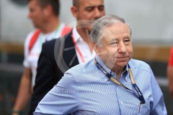 World © Octane Photographic Ltd. Formula 1 - German GP - Practice 3. Jean Todt – President of FIA. Hockenheimring, Hockenheim, Germany. Saturday 27th July 2019.