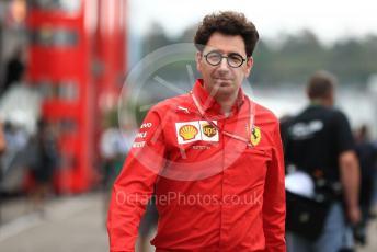 World © Octane Photographic Ltd. Formula 1 - German GP - Practice 3. Mattia Binotto – Team Principal of Scuderia Ferrari. Hockenheimring, Hockenheim, Germany. Saturday 27th July 2019.