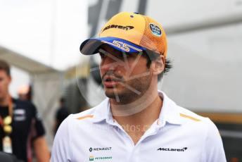 World © Octane Photographic Ltd. Formula 1 – German GP - Paddock. McLaren MCL34 – Carlos Sainz. Hockenheimring, Hockenheim, Germany. Sunday 28th July 2019.