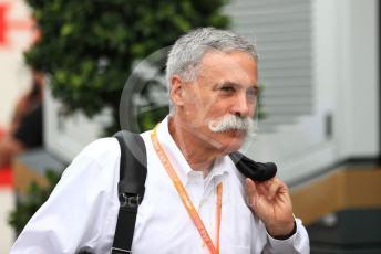 World © Octane Photographic Ltd. Formula 1 - German GP - Paddock. Chase Carey - Chief Executive Officer of the Formula One Group. Hockenheimring, Hockenheim, Germany. Sunday 28th July 2019.