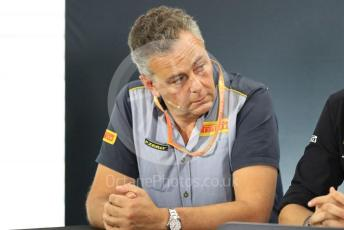 World © Octane Photographic Ltd. Formula 1 - German GP – Friday FIA Team Press Conference. Mario Isola – Pirelli Head of Car Racing. Hockenheimring, Hockenheim, Germany. Friday 26th July 2019.